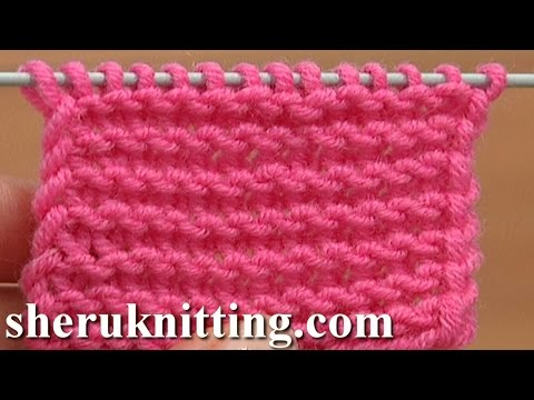 Knit The Garter Stitch Making Twisted Loops Tutorial 6 Part 1 of 4 Way of Knitting The Garter Stitch