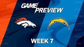 Denver Broncos vs. Los Angeles Chargers | Week 7 Game Preview | NFL Playbook