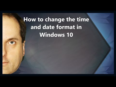 How to change the time and date format in Windows 10