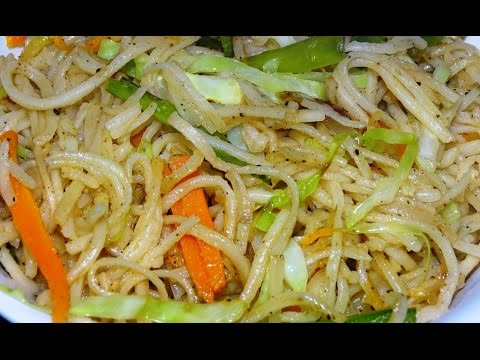 Veg Hakka Noodles without sauces for kids