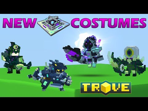 Crafting Chaos Cavalier, Shadow Sidhe, Shadow Ranger, Moon Draccoon Costumes in Trove