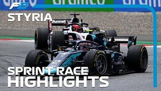 F2 Sprint Race Highlights 2020 Styrian Grand Prix