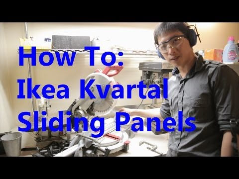 How to Install an Ikea Kvartal Sliding Panel System | BeatTheBush