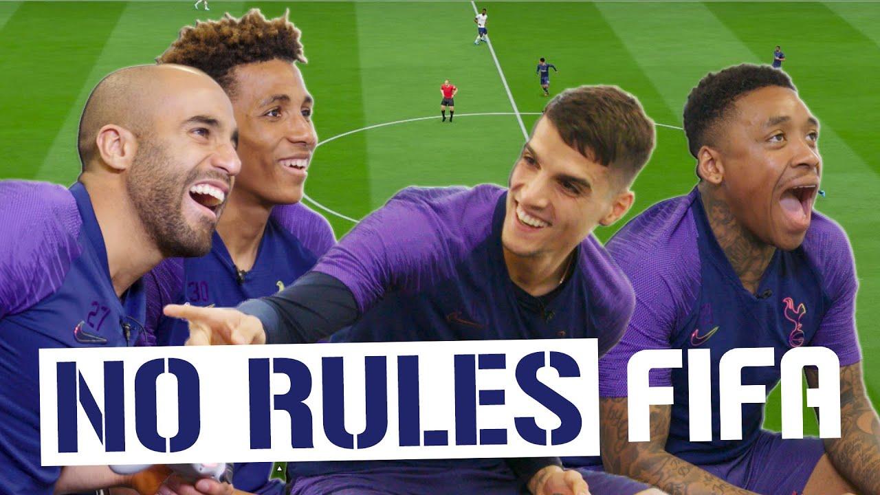NO RULES FIFA! Lucas Moura & Gedson Fernandes v Steven Bergwijn and Erik Lamela!