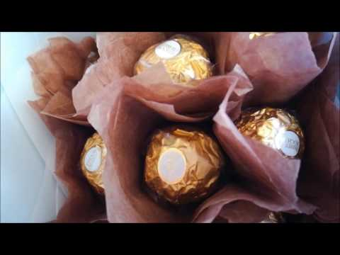 DIY Ferrero Rocher chocolate bouquet ♥