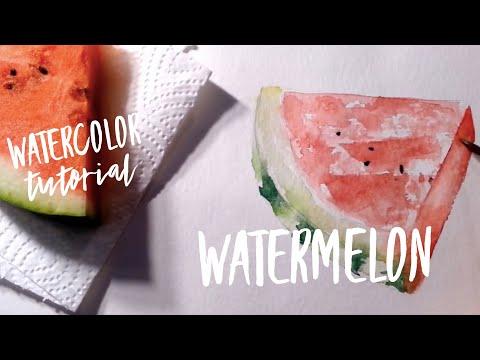 Watercolor Tutorial & Giveaway
