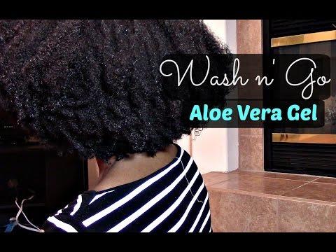 Natural Hair | Wash n' Go (Aloe Vera Gel)