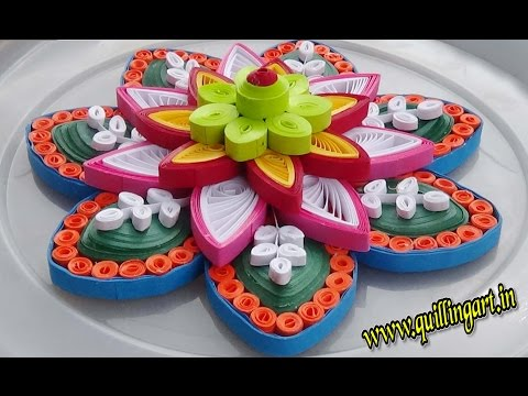 ☑️ Paper Quilling Designs  🌲 How to make  Colorful quilled Rangoli design 🌲