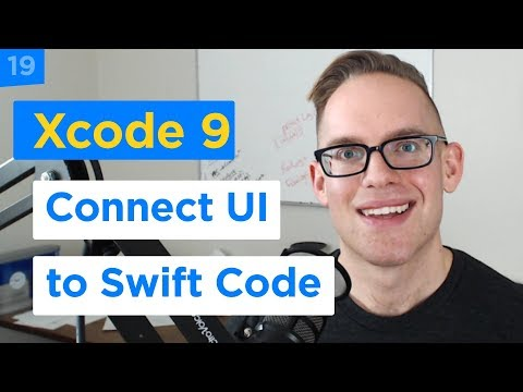 iPhone Apps 101 - How to Connect UI to Code with Xcode Storyboard and Swift 4 (19/29)