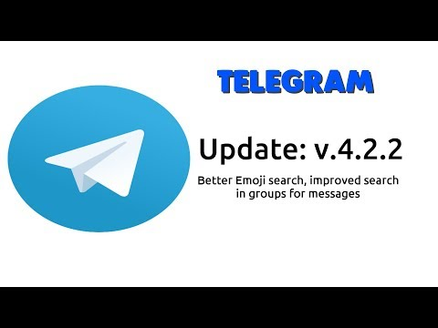 Telegram Update 4.2.2 - better Emoji search and search for messages in groups