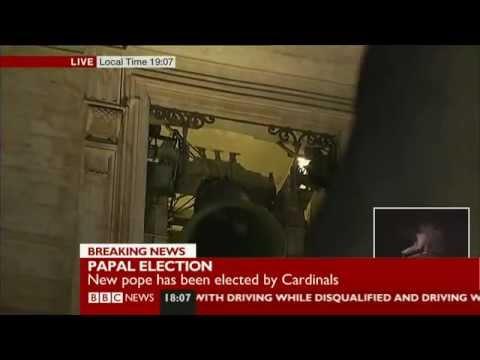Pope Francis elected - White Smoke - BBC News - 13/3/13