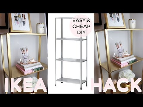 Easy & Cheap DIY | UNDER $20 | GOLD SHELF | IKEA HACK