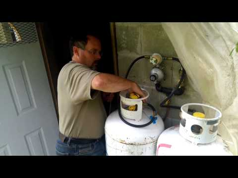 Removing Empty Propane Tank