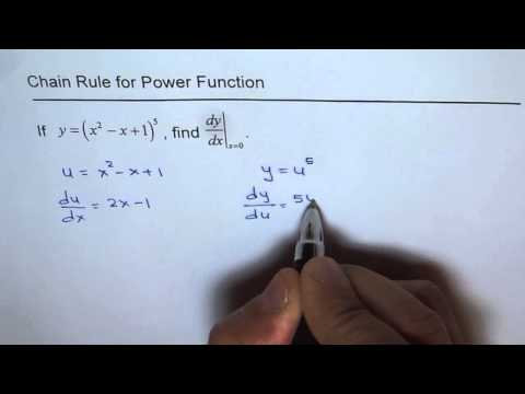 Chain Rule to Find Derivative of Power Function