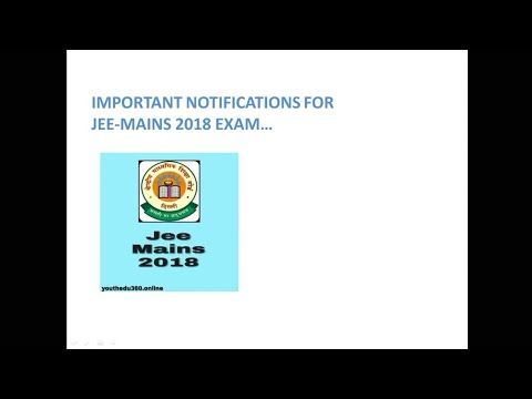 JEE Mains 2018-Important Instructions For 12 th Students...