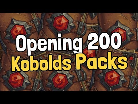 Opening 200 Kobolds Packs - Hearthstone