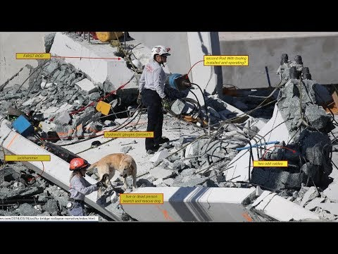 FIU Bridge Collapse WORKERS KNEW LOCATION OF COLLAPSE OF BRIDGE VIDEO