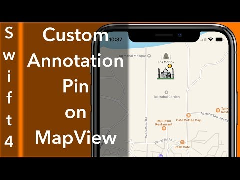Custom Annotation Pin MapView (Swift 4 + Xcode 9.0)