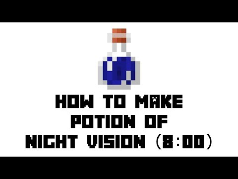 Minecraft Survival: How to Make Potion of Night Vision (8:00)