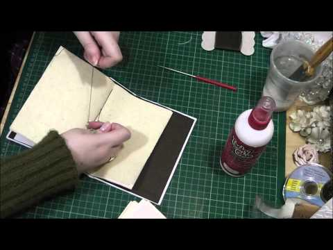 4 Hole Pamphlet Stitch Tutorial - How to make a handmade junk journal