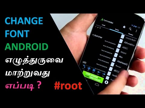 Change font in any android device (root) | Cyber Tamil