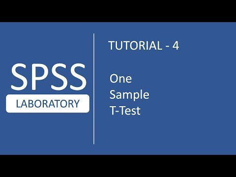 SPSS Tutorial # 4 : How to perform One Sample T-Test