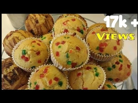 eggless muffins without condensed milk ||tutti frutti muffins recipe ||atta muffins||eggless muffins