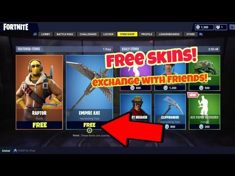 Fortnite Battle Royale Glitch (Free skins) skin duplication PS4/Xbox one 2018