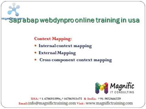 sap abap webdynpro online training classes