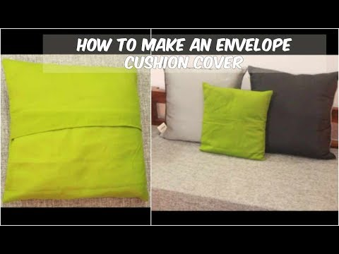 Easy Envelope Cushion Cover Making | DIY Cushion Cover