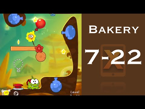 Cut the Rope 2 Walkthrough - Bakery 7-22 - 3 Stars + Medal