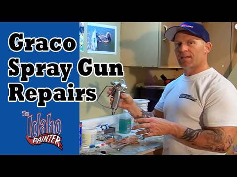 Cleaning A Graco Contractor II Gun.  Repair an Airless Spray Gun.