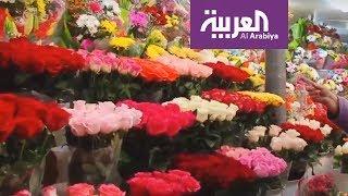 #x202b;نمو خيالي لمبيعات الورد خلال الفالنتين#x202c;lrm;