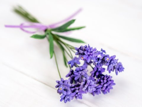Lavendel aus Blütenpaste / Lavender Tutorial (English Subtitles!)
