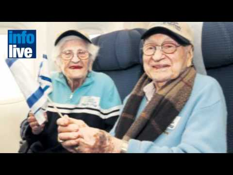 Oldest couple to make Aliyah