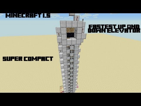 Minecraft Fast Up and Down Elevator