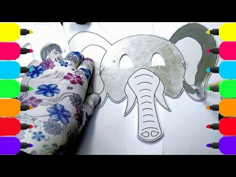 Learn Colors - Elephant Mask Art Colours for Kids