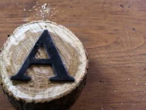 How to  make Rustic Wood Slice Letters for Rustic Decor -  Knick of Time