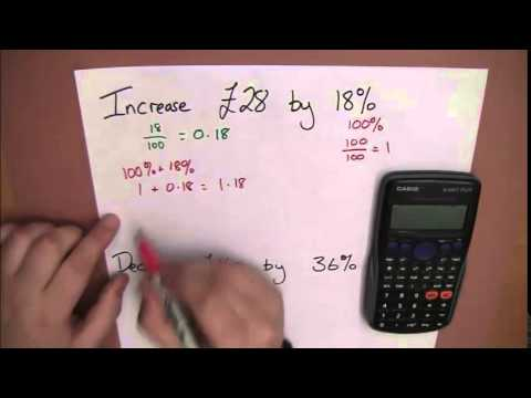 Using a Calculator for Increasing and Decreasing by a Percentage
