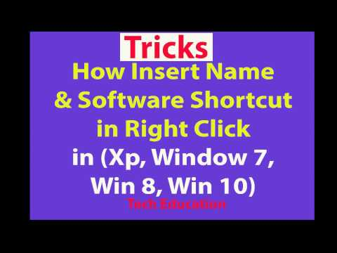 How to Creat Name in Right Click   Window Tricks   Regedit Tricks   Window Hacking