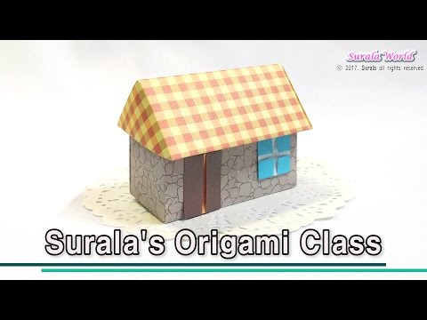 Origami - House (3D) : Walls, Roof, Door, Window