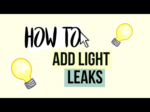 HOW TO USE LIGHT LEAKS ON SONY VEGAS