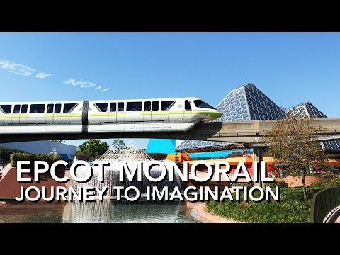 Epcot Monorail - Journey Into Imagination [4K]