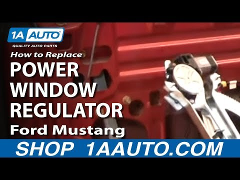 How To Install Replace Power Window Motor Regulator Ford Mustang 94-04 1AAuto.com