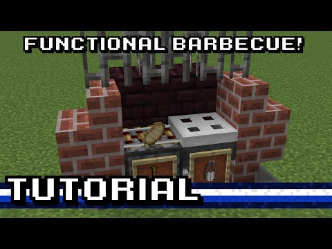 Minecraft: Functional Outdoor Barbecue! [Tutorial]
