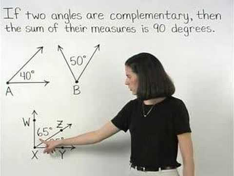 Complementary Angles - MathHelp.com - Geometry Help