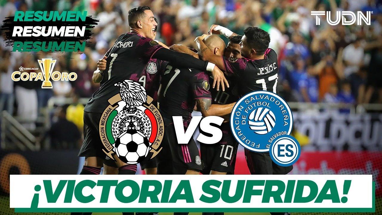 Resumen y goles | México vs El Salvador | Copa Oro 2021 | Grupo A | TUDN