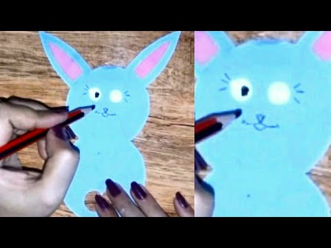 DIY paper craft - how to make paper rabbit in easy way | art and craft ideas | be crafty