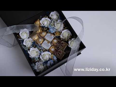 WB ver. Flower Gift Box * with Ferrero Rocher Chocolate  초콜릿 플라워박스