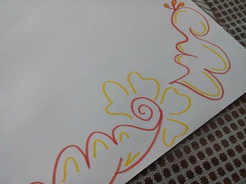 How to draw simple border design | |Quick and easy